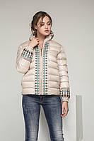 Короткая стильная женская куртка С-13д с капюшоном., фото 1