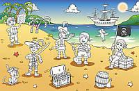 Обои-раскраска для детей: Пираты, 175х115 см, фото 1
