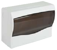Щит ящик щиток пластиковый 12 модулей автоматов распределительный накладной цена купить, фото 1