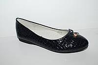 Туфли для девочек. Школьная обувь оптом от Yalike 173-12 синий (33-38)