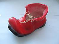 """Сувенир """"Башмачок"""" красный высота 5,5 см. основание 10,5 см. СТАРЫЙ СКЛАД"""
