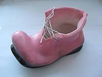 """Сувенир """"Башмачок"""" розовый высота 5,5 см. основание 10,5 см. СТАРЫЙ СКЛАД"""