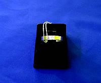 Обручальное кольцо серебряное с золотой пластиной