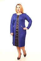 Стильное платье большого размера Алина электрик52, фото 1