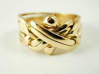 Кольца-головоломки из золота от WickerRing