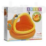 Детский надувной бассейн Intex  Ленивая рыбка с навесом 124х109х71 см (57109), фото 4