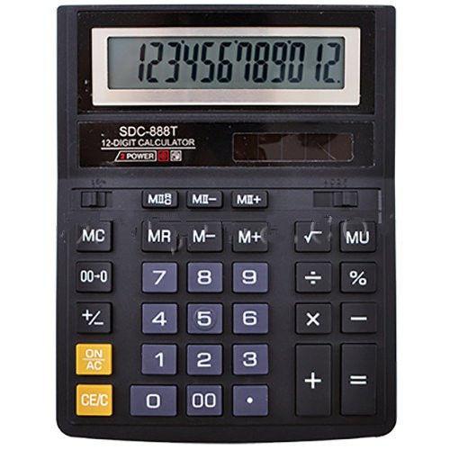 Настольный калькулятор sdc-888t: 12-тиразрядный, на солнечном элементе питания - Техно порт в Днепре