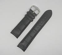 Кожаный ремешок для часов Tissot Черный 20 мм (20х18 мм)