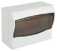 Щит ящик щиток пластиковый 9 модулей автоматов  распределительный накладной цена купить, фото 1
