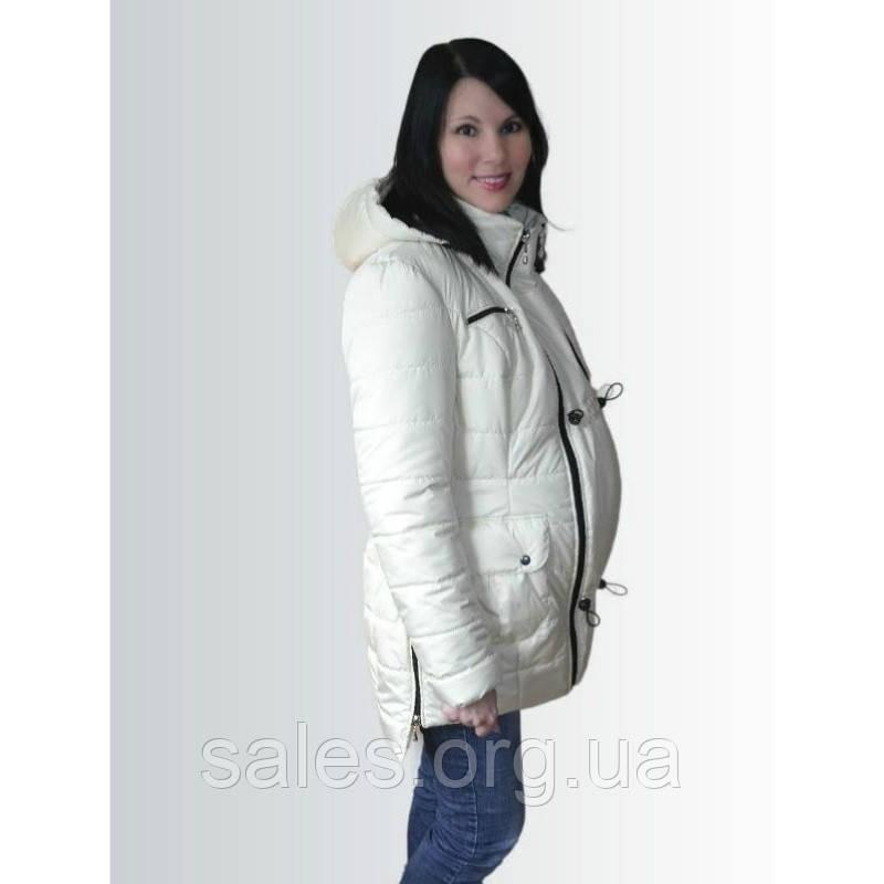 ad367d2c6126 Зимняя куртка для беременных, молочная - Интернет-магазин