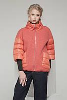 Куртка женская стильная С-16 короткая комбинированная.