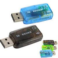 USB звуковая карта sound card для ноутбука ПК