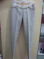 Нарядные брюки классические, со стрелками, с люрексом для девочки-подростка, итальянский бренд SARAH CHOLE