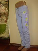 Нарядные брюки с цветочным принтом сбоку для девочки, бренд нарядной одежды Illudia, Италия