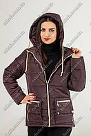 Женская куртка весна-осень2016  Фрида шоколад