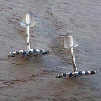 """Серебряные серьги """"Снежинки"""" с фианитами, фото 2"""