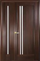 Комплект дверей двустворчатых Делла с сатином от Новый стиль (венге new, зол.ольха, каштан, ясень, grey) Каштан