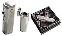 Зажигалка для сигар 25601 Eurojet металл, газ/турбо/тр. пламя, хром/серебр.+пирс