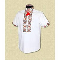 Мужская сорочка вышиванка с коротким рукавом - Розмай