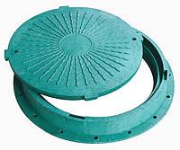 Люк канализационный пластиковый ( полимер-песчаный ) зеленый