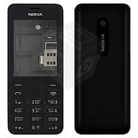 Корпус для Nokia Asha 206 с клавиатурой, черный - оригинальный