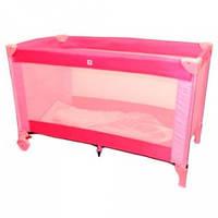 Манеж кровать розово-малиновый Bambi (QX 805-16)