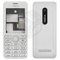 Корпус для Nokia Asha 206 с клавиатурой, белый, оригинал