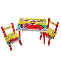 Детский столик и два стульчика Тачки (M 0292)