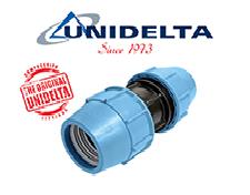 Фитинг зажимной (компрессионный) для полиэтиленовых труб Unidelta (Италия)
