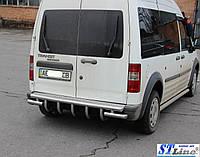 """Ford Connect 2006-2009 гг. Задняя дуга """"AK-design"""" (нерж.)"""