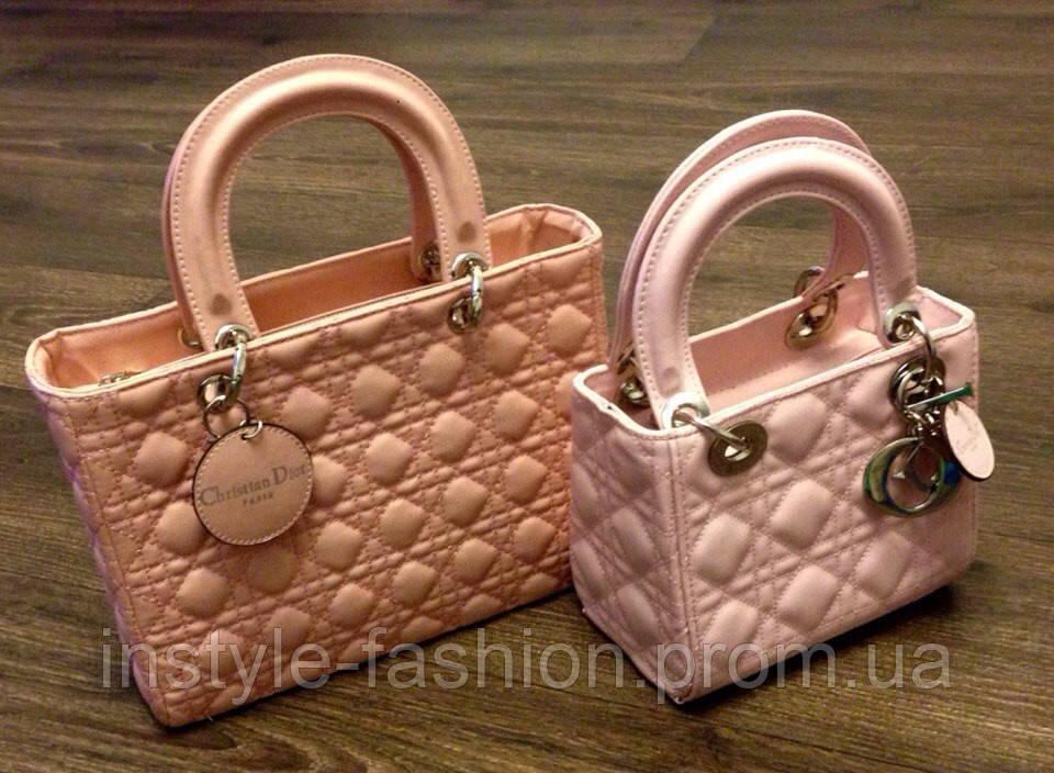 Милашки сумки Сумка Christian Dior розовые, розовый кварц