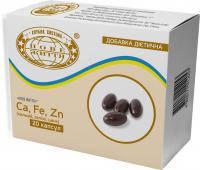 Мягкие капсулы с Ca, Fe, Zn (кальций, железо, цинк) капсулы 500 мг. №20