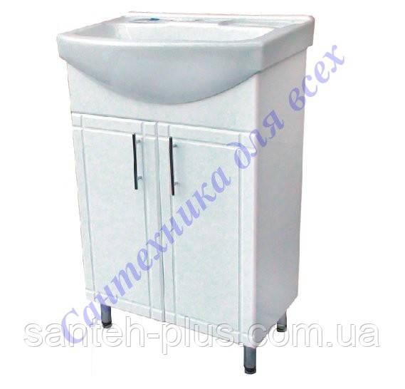 Тумба с умывальником в ванную на ножках Изео-60 т 1/4