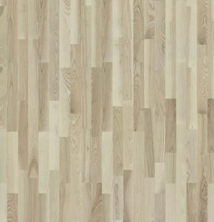 Паркетная доска Diana Forest, Ясень Frankfurd 3-х пол., белый матовый лак