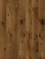 Паркетная доска Barlinek Nugat Дуб 1 полосний Walnut, матовий лак, мікрофаска, брашований COUNTRY (mix 725(2 шт.)-1465(6шт.)*130*14 мм)