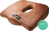 Ортопедическая подушка PharMeDoc Coccyx Seat Cushion для сидения, коричневая., фото 1