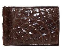 Зажим для денег из кожи Крокодила «Естественный III»