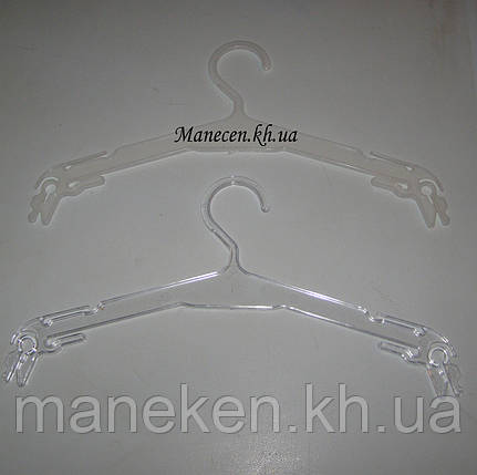Вешалка -плечики бельевая прозрачное стекло 32см, фото 2