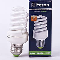 Энергосберегающая лампа Feron ELT19 20W 230V E27 2700K (белый теплый)