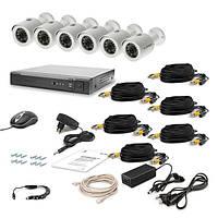 AHD Комплект видеонаблюдения для быстрой установки Tecsar 6OUT LUX