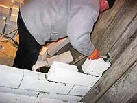 Кладка перегородок из газобетонных блоков