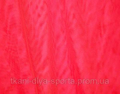 Стрейч-сетка яркая красно-карминная