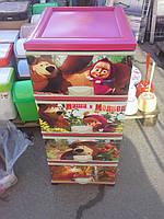 Пластиковый детский комод элиф Маша и Миша
