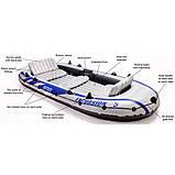 Надувная лодка Excursion INTEX 366х168х43 см (68325), фото 3