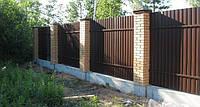 Профнастил двухсторонний RAL: 8017 ( коричневый )