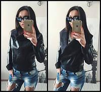 Куртка-косуха выворотка замшь чёрная