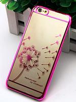 Чехол пластиколвый Clear Pink для Iphone 5/5s