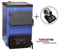 Котел-плита на твердом топливе с блоком управления Spark-Heat (Спарк Хит) мощностью 14 кВт