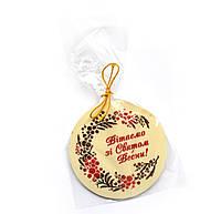 Шоколадные подарки для коллег на 8 марта. Шоколадки с поздравлениями, фото 1