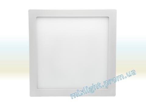 Светодиодный светильник 12W квадрат накладной 4500K Z-light, фото 2